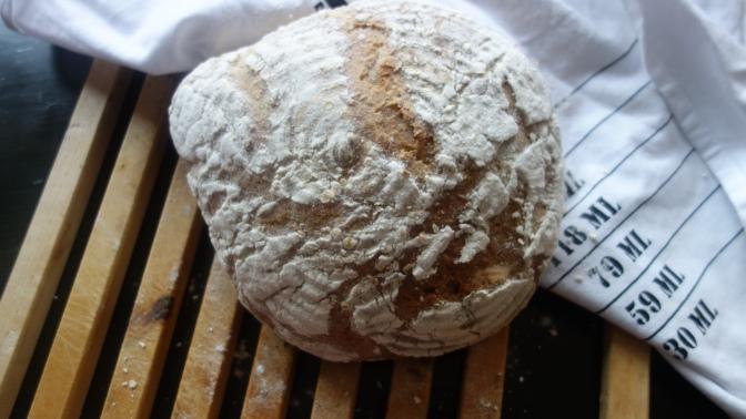 Juureen leivottu vehnäleipä